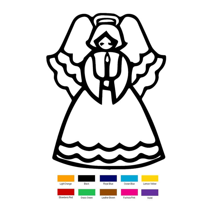 Wholesale 40 pcs/lot 15cm x 12cm Angel With Candle Funny Car Sticker For Truck Window Bumper Auto SUV Door Vinyl Decal 9 Colors