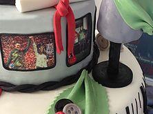 The Cake Lab Ranelagh, Dublin, Ireland, Artisan Baking Studio. Bespoke Wedding Cakes.  Graduation Cake.  Fashion Graduate Cake.  Edible photograph images.  Edible mannequin.  Edible vogue magazine cover.  Edible spools of thread.  Edible buttons. Edible Graduation cap. Edible Scroll.