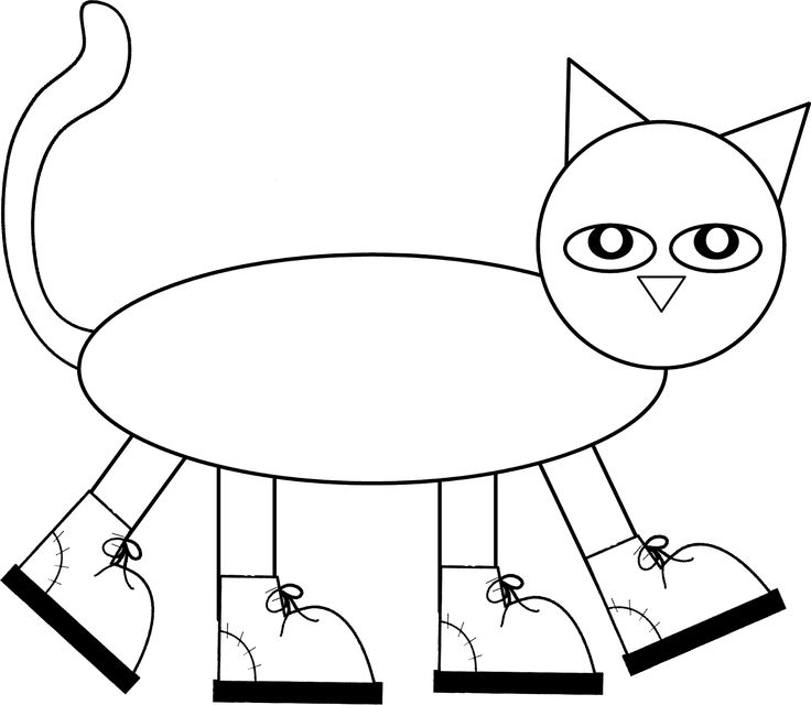 """Pete the Cat Pattern to color, cut, and assemble! Children love Pete's I Love My White Shoes book and had a blast making their own """"Pete"""" after reading the fun story!"""