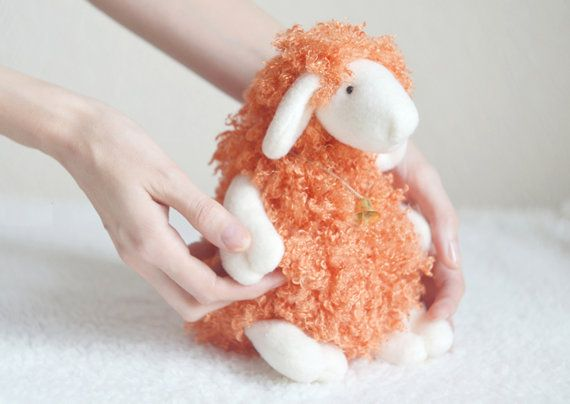Stuffed Toy - Easter Sheep - Easter Lamb - Ewe - Plush Plushie Toy - Cute Soft Toy - Faux Fur Toy - Easter gift