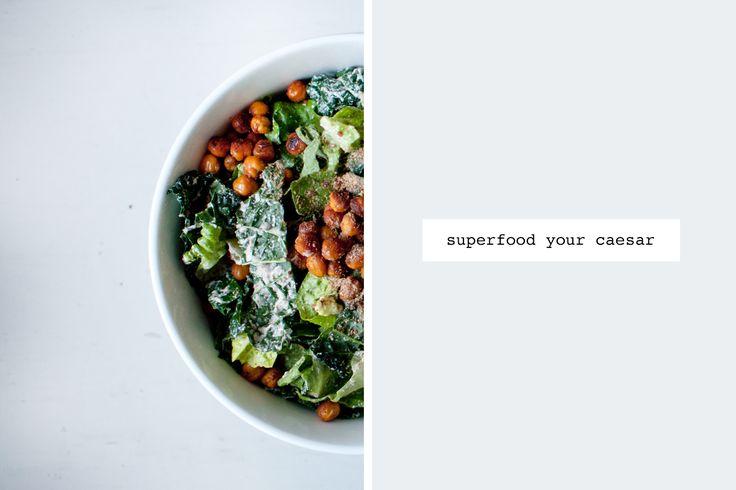 The Best Kale Caesar Salad  (made vegan)