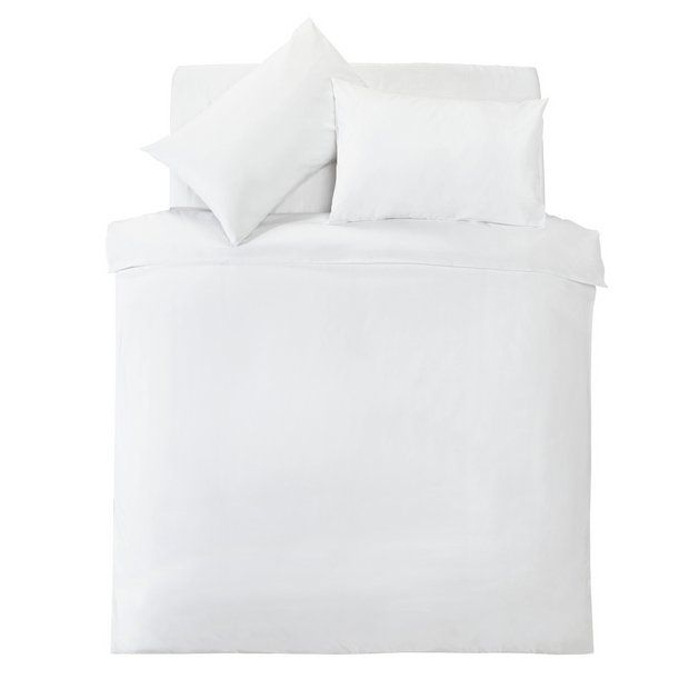 Buy Silentnight White Supersoft Bedding Set Double Duvet Cover Sets Argos Duvet Cover Sets Bedding Set King Size Duvet