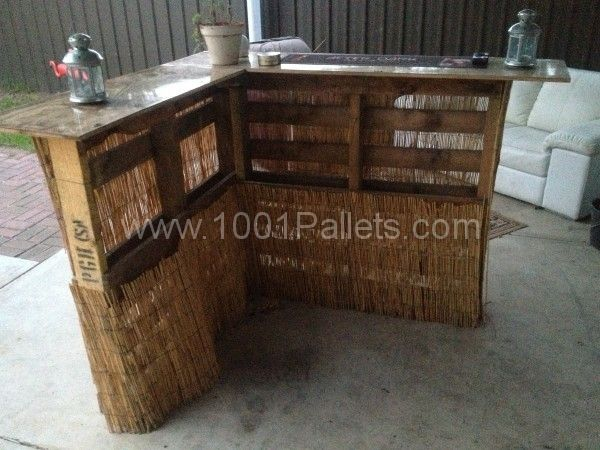 17 best images about great wood pallet ideas on pinterest for Pallet furniture bar