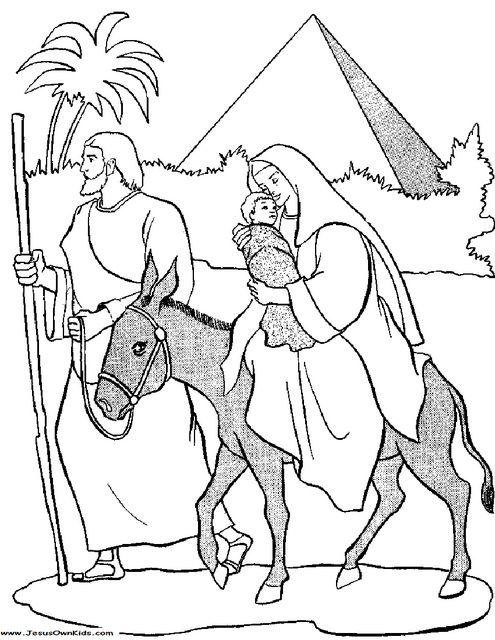 picture of mary joseph and baby jesus going to eygpt | 40c1. Matthew - Mary and Joseph flight into egypt with baby Jesus www ...