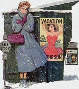 Love this retro picture. It depicts perfectly the moments I have in nebraska in the winter.