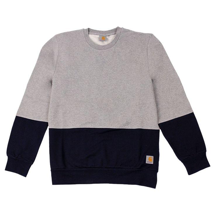 Carhartt WIP Stanley Sweatshirt Grey Heather / Duke Blue