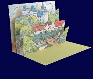 Father's Day card from vintage French chateau illustration ...