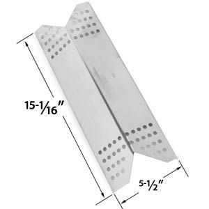 REPLACEMENT STAINLESS STEEL HEAT PLATE FOR KENMORE SEARS, NEXGRILL 720-0670B, SUNBEAM GRILLMASTER 720-0670E & LOWES MODEL GRILLS
