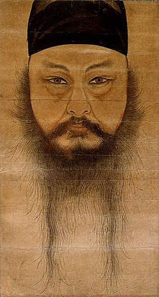Yun Du-seo: self-portrait (circa 1710).  Yun Du-seo was a Korean painter, poet, composer, and scholar who argued for the modernization of Confucianism through the dialogue with Western ideas. This self-portrait is one the first Western-style portraits painted in Korea, and is often referred to as a masterpiece of Korean art.