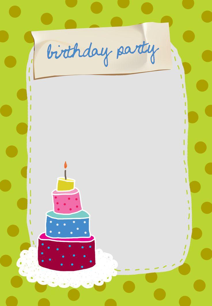 #Birthday Party #Invitation Free Printable Birthday