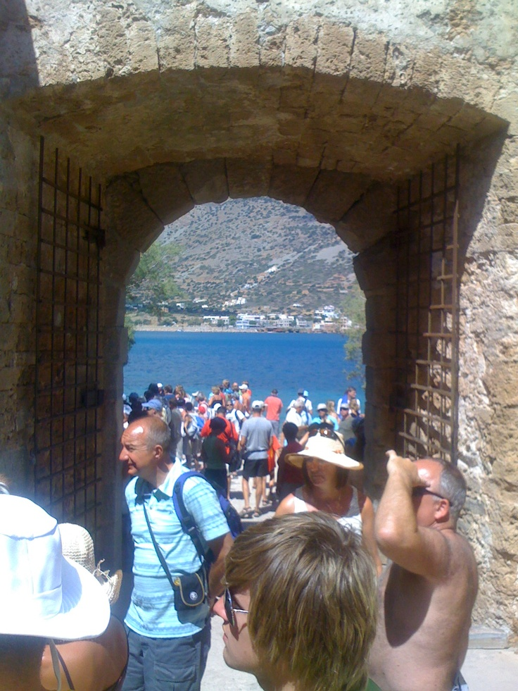 One of the entrances to Spinalonga - former leper colony - photo taken from the inside. Not very strange that both of the entrances are called entrances not exits.