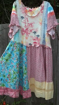 Upcycled patchwork dress. RESERVED FOR Denise by beamoorecreative, $75.00