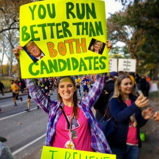 Hilarious Political Signs from the 2016 NYC Marathon - Shape.com