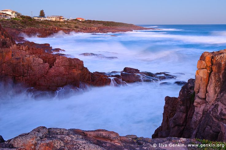 Fishermans Bay at Twilight, Anna Bay, Port Stephens, NSW, Australia