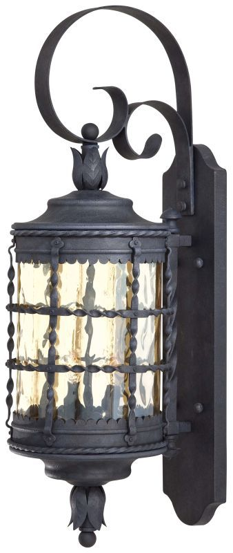"The Great Outdoors GO 8881 2 Light 28.25"" Height Outdoor Wall Sconce from the Ma Mediterranean Iron Outdoor Lighting Wall Sconces Outdoor Wall Sconces"