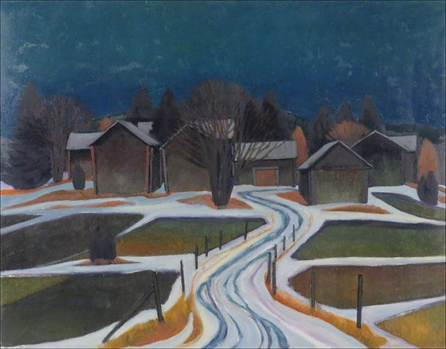 Juhani Palmu (FINNISH, B. 1944) Early Spring : Lot 136-6064 #finnish #spring #painting #fineart