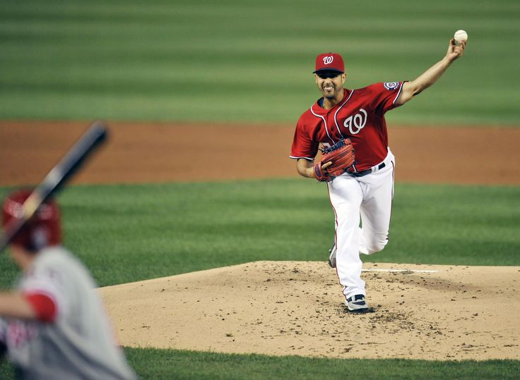 CrowdCam Hot Shot: Washington Nationals starting pitcher Gio Gonzalez throws in the third inning against the Philadelphia Phillies at Nationals Park. Photo by Joy R. Absalon