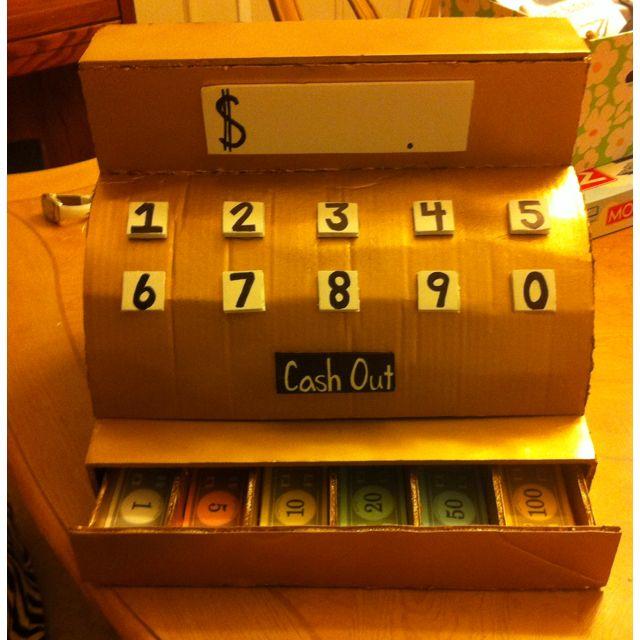 homemade cash register