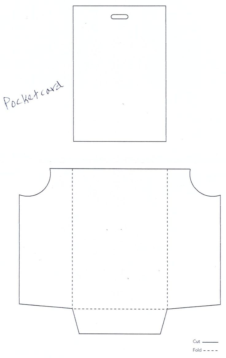 Envelope Folding Template Printable I Make These Out Of Tracing Paper For A  Faux Glassine Look