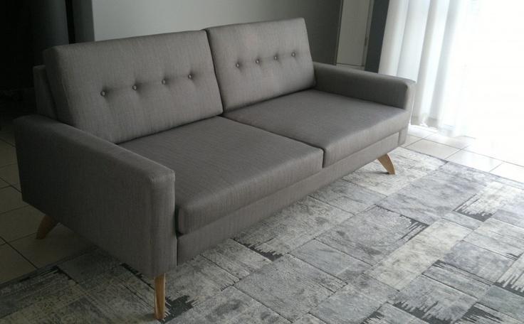 Meet Luna! Polished Oak plinth, upholstered with HF Lounge Alluminium