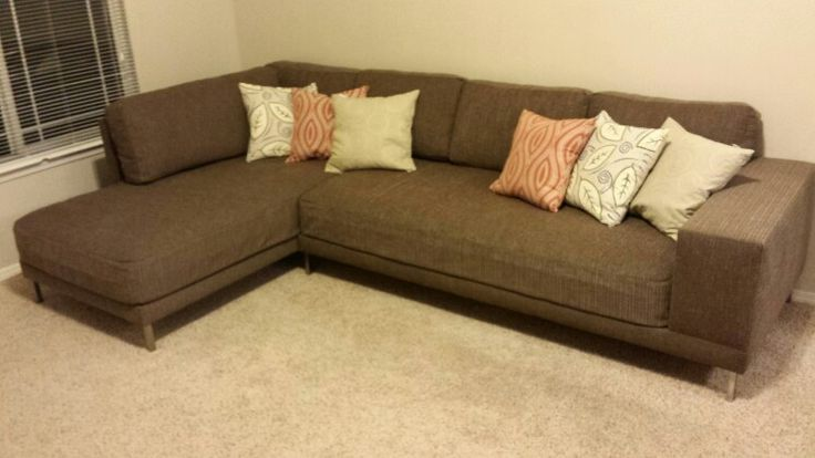 My couch, made from two twin mattresses. DIY sofa / DIY couch