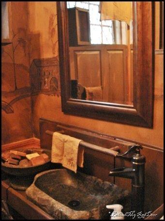 Primitive bathroom vanities primitive bathroom ideas for Primitive bathroom ideas