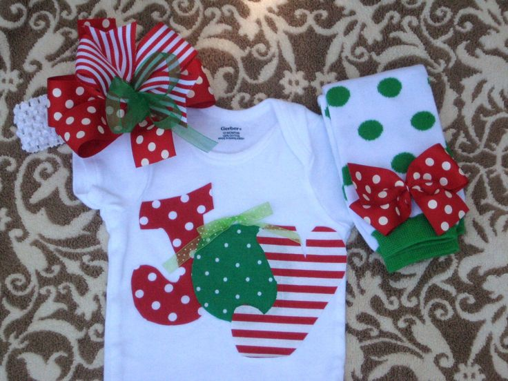 Baby Girls Christmas JOY Bodysuit, LegWarmers & Hair Bow Set, Christmas Outfit for baby girls/Red Green White Joy Christmas outfit by LovelyLittleBowShop on Etsy https://www.etsy.com/listing/202139961/baby-girls-christmas-joy-bodysuit