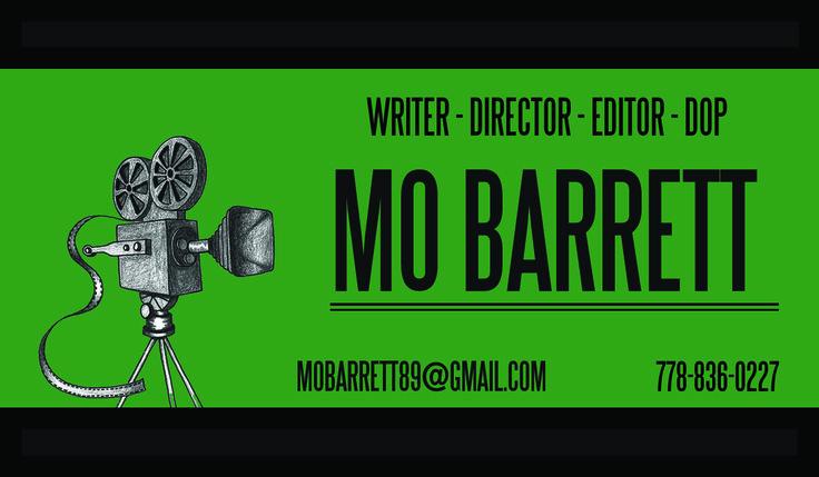 1st draft business card   by: Mo Barrett