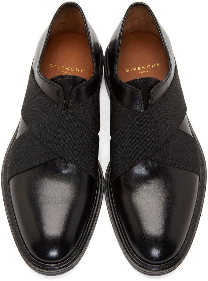 Black dress slip on shoes