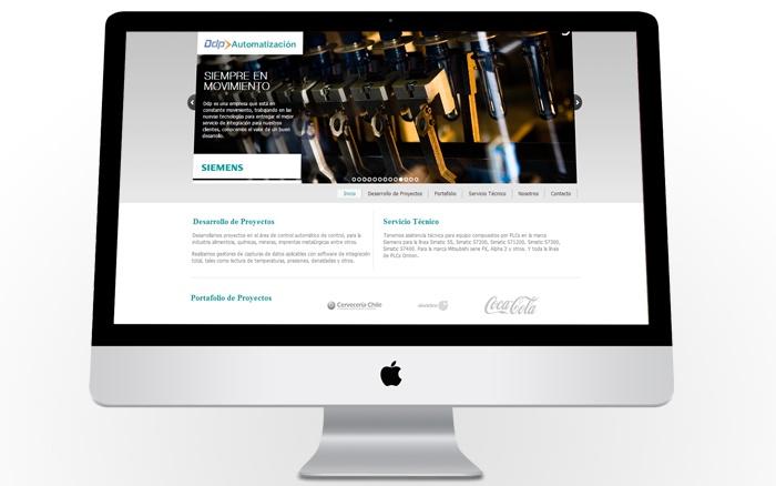 Diseño y desarrollo Web para la empresa DDP Automatización