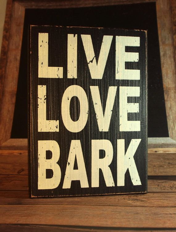 Dog Home Decor Dog Love Sign Live Love Bark Pet Love Sign Vet Sign Dog Home