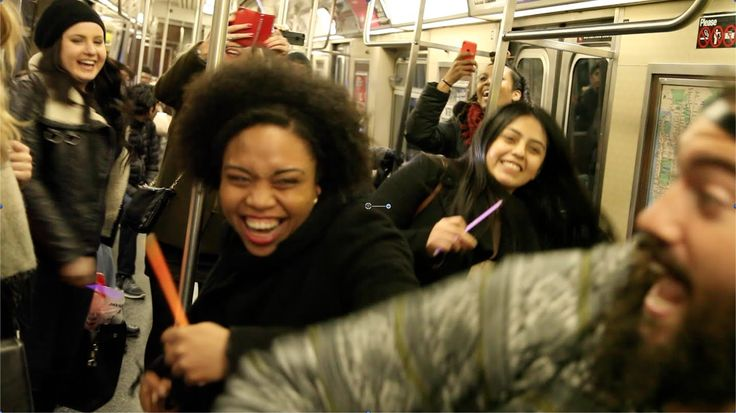 Dj Dance Party on the NYC Subway: There's always something going on in the New York Subway - Music, art and entertainers to name a few, but one thing that's lacking is human interaction. #nyc #subways #dance