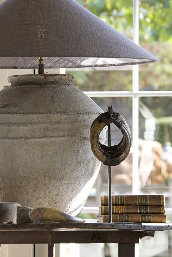 Rustic charm lamp would look great with shabby white grey for Antiek interieur