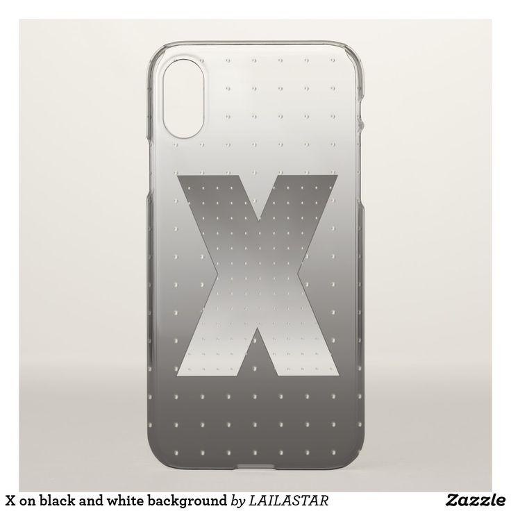 Funda Para iPhone X X en fondo blanco y negro