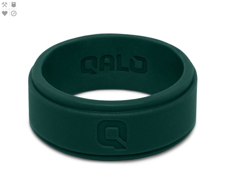 Men's Jade Green Step Edge Q2X™ Silicone Ring from QALO