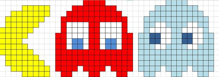Unhas e Artesanato: ' Gráficos Pac Man