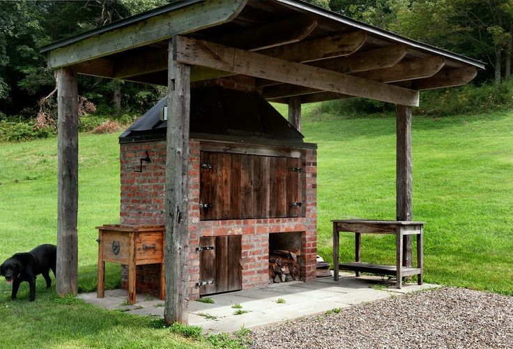 Bbq Smoker Design landscape farmhouse with brick oven metal statues and sculptures