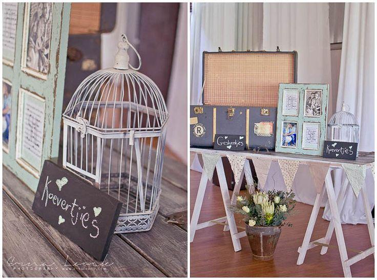 Erna Loock Photography: { Forever } Hanri + Jacques Part One Rustic Romance Wedding Bird Cage Frames Decor
