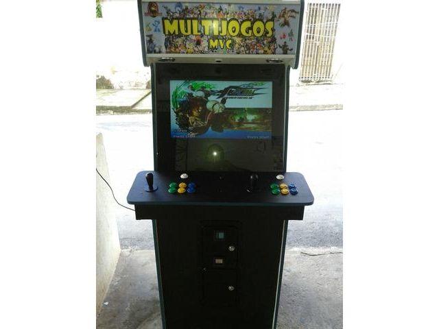 Aluguel e vendas  alugo para: eventos, PONTOS COMERCIAIS, festas de aniversário. ...  FABRICAMOS POR ENCOMENDA  Obtenha uma RENDA EXTRA na porta de casa, complemente o aluguel do seu ponto comercial com uma maquina de fazer dinheiro não perca a oportunidade no seu tempo ocioso lucre...   Possui diversos jogos de vários sistemas ARCADE .  street fight iv arcade edition the king of fighters xiii Mortal Kombat 1,2,3 ultimate jogo de fase jogos de nave  esportes.  contato fone & whatsapp: 98 9…