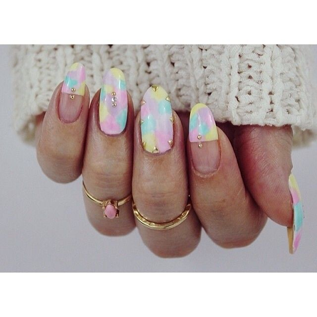 166 best our nail roomies images on pinterest youtube beauty we just watched the collaboration between and what a lovely nail art tutorial creating a watercolor look with polish and features our tiny metal studs prinsesfo Images