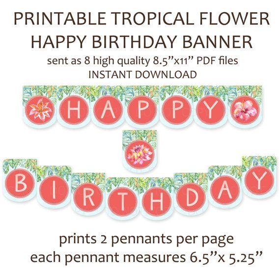Printable DIY Tropical Rainforest