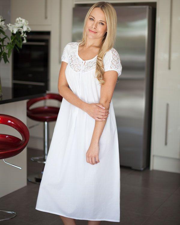 Danielle Shadow Stripe Short Nightdress