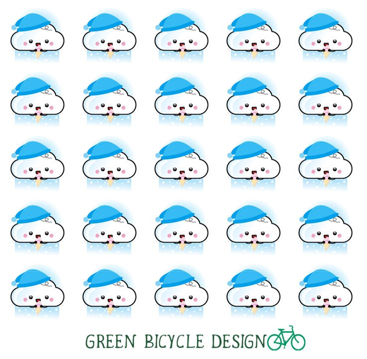 Kawaii Snowing Weather Stickers