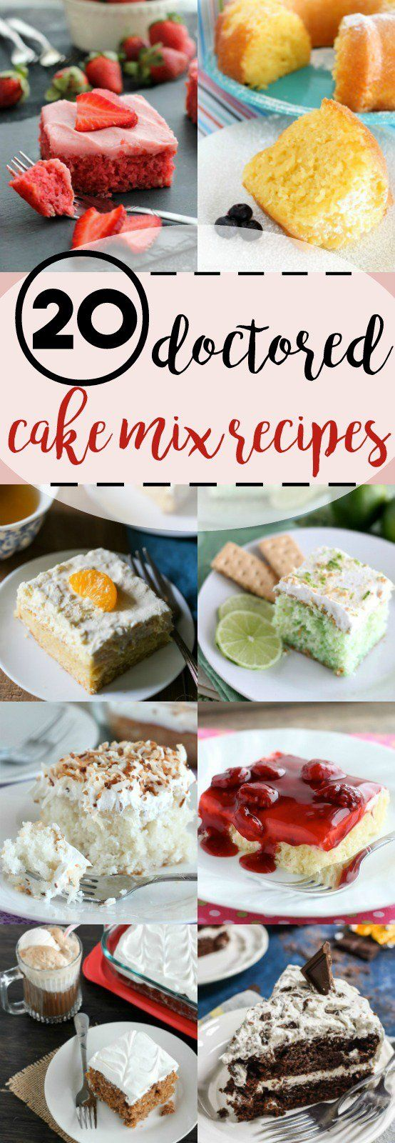 Dessert is everyone's favorite, so why not grab a cake mix from your pantry and doctor it up into one of these cake mix recipes?! No one will be able to guess that you took a shortcut and used a cake mix with these tasty cakes and treats.