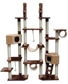 Great Kitty Mansions Rome Cat Tree, Brown/Beige * New And Awesome Cat Product  Awaits You, Read It Now : Cat Beds And Furniture