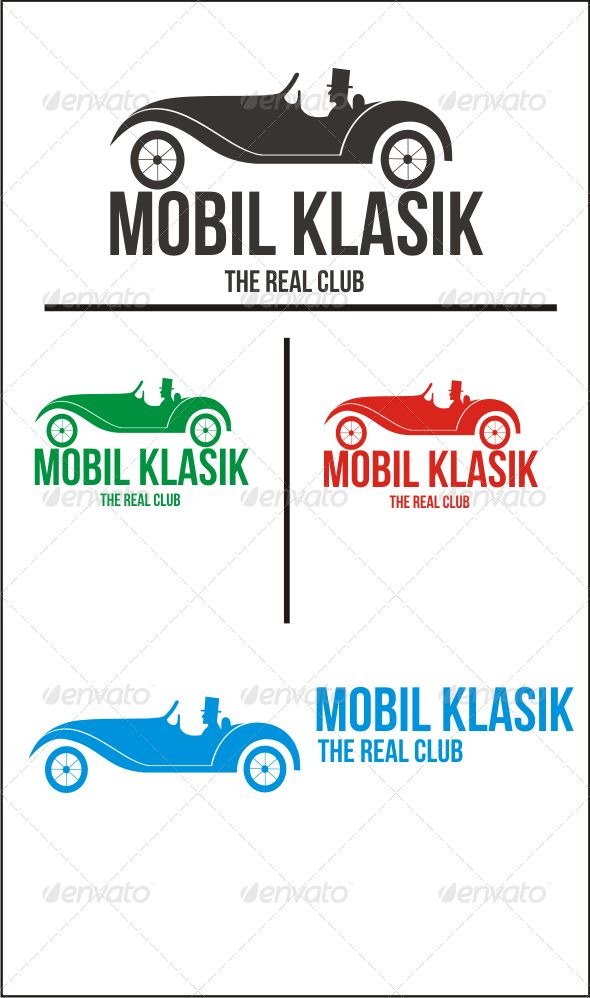 Mobil Klasik — Vector EPS #old #hobbies • Available here → https://graphicriver.net/item/mobil-klasik/6262479?ref=pxcr