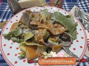 Ricetta pappardelle colorate fiori di zucca e tartufo