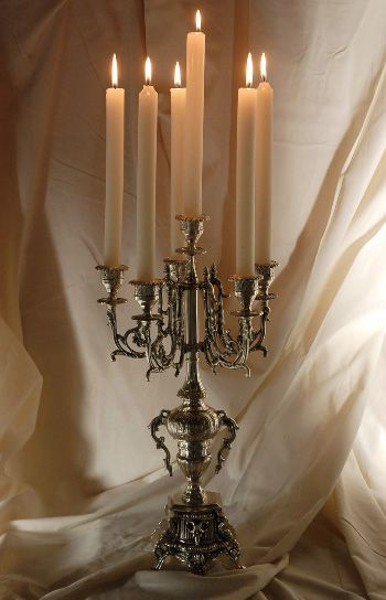 Phantom of the Opera feel to it... I like it! And I have a slight obsession with candelabras anyway
