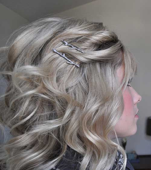 Lovely Half Up Soft Curly Hair