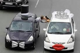 Image result for wedding car decorations